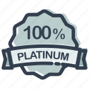 ecommerce, label, percent, platinum, sale, shopping, store icon