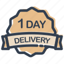 day, delivery, calendar, date, label
