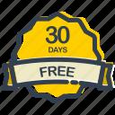 days, free, discount, label, offer, sale, sticker