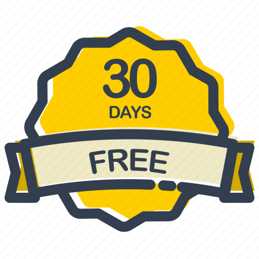 days, discount, free, label, offer, sale, sticker icon