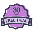 days, free, trial, sale, shipping, shopping icon