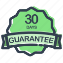 days, guarantee, label, prize, ribbon, sale, sticker icon