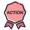 action, bonus, discount, label, offer, sale, sticker icon
