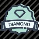 casino, diamond, game, stamp icon