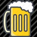 alchohol, beer, beverage, food, glass icon