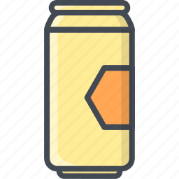 alchohol, beer, beverage, can, food icon