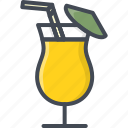 alchohol, beverage, cocktail, food, glass icon