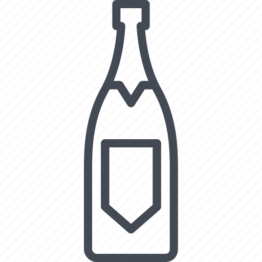 alchohol, beverage, bottle, champagne, food icon