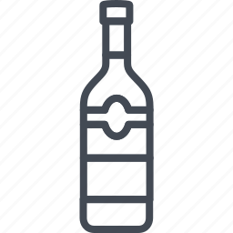 alchohol, beverage, bottle, food, vodka icon