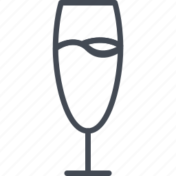 alchohol, beverage, champagne, food, glass, wine icon
