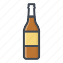 alchohol, beverage, bottle, food, glass, sticker icon