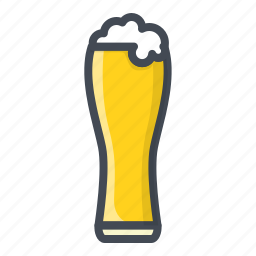 alchohol, beer, beverage, food, glass, sticker icon