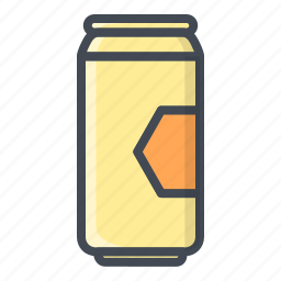 alchohol, beer, beverage, can, food, sticker icon