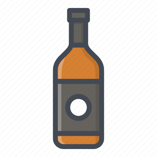alchohol, beverage, bottle, food, sticker, whiskey icon