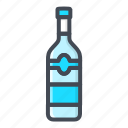 alchohol, beverage, bottle, food, sticker, vodka icon