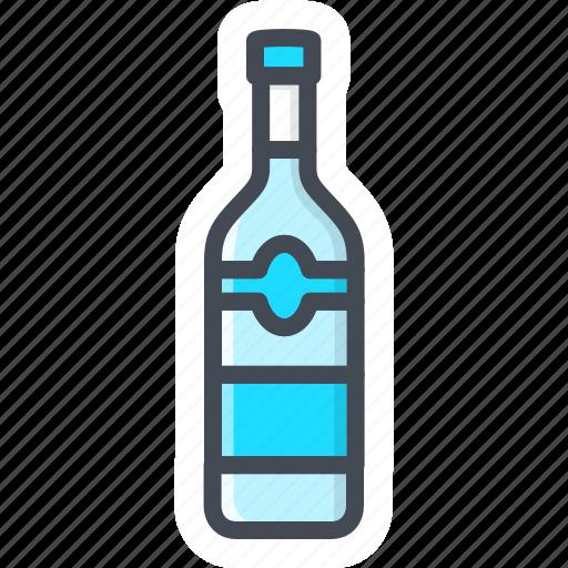alchohol, beverage, bottle, food, sticker, vodka icon