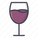 alchohol, beverage, food, glass, sticker, wine icon