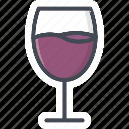 alchohol, beverage, food, glass, sticker, wine icon