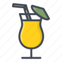 alchohol, beverage, cocktail, food, glass, sticker icon