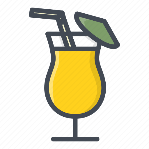 alchohol, beverage, cocktail, food, glass, sticker icon