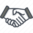 business, hand, meeting, shake icon
