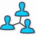 business, connection, meeting, network icon