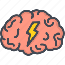 brain, business, meeting, storm icon
