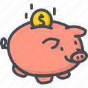 bank, business, cash, coin, finance, money, piggy icon