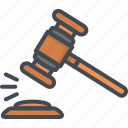 bank, business, finance, hammer, law, money icon