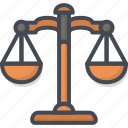 bank, business, finance, law, money, scale icon