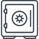bank, business, finance, money, safe icon