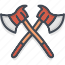 axe, fighter, fire, job, service, work icon