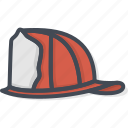 fighter, fire, hat, job, service, work icon