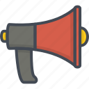 fighter, fire, job, rupor, service, speaker, work icon