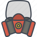 fighter, fire, job, mask, service, uniform, work icon