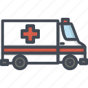 ambulance, car, hospital, medicine, service, work icon