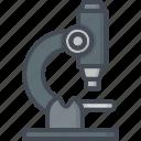 hospital, lab, medicine, microscope, research, service, work icon