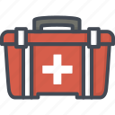 box, hospital, kit, medical, medicine, service, work icon