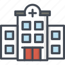 building, hospital, medical, medicine, service, work icon