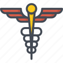hospital, medicine, scepter, service, work icon