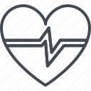 beat, heart, hospital, medicine, rate, service, work icon