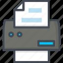 fax, office, printer, scaner, work icon