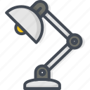 lamp, office, table, work icon