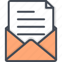 document, mail, note, office, work icon