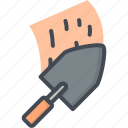 cement, renovation, repair, service, trowel, work icon