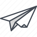 business, paper, plane, startup icon
