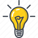 bulb, business, idea, light, startup icon