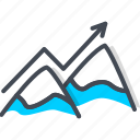 business, mountain, peak, startup, up icon
