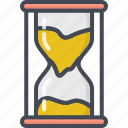 business, clock, sand, startup icon