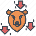 bear, business, down, trading, trend icon